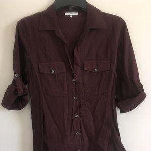 Sold....James Perse Women's Wine Shirt Top